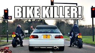 🐒 BIKE KILLER! MENTAL K20 TURBO EG HONDA CIVIC REVIEW!