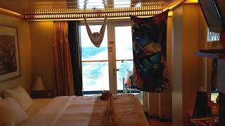2018 Carnival Miracle BEST aft extended balcony cabin 4230 room tour. Best balcony