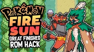 FINISHED ROM HACK!? Pokémon Fire Sun - Pokemon Rom hack - GAMEPLAY and Download
