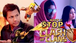 when u Stop Playing Clash of Clans