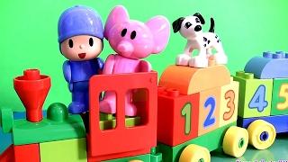 LEGO DUPLO Trenzinho Alegria Pocoyo indo pra Escola TOYSBR Blocos de Montar | Pocoyo Blocks