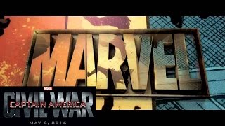 Captain America: Civil War Marvel Intro Logo (2016) NEW HD 1080p