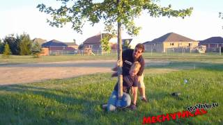 hot girl tied to tree with no rope.mp4