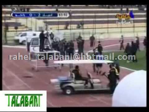 واقع الشغب في ملعب فرنسوا حريري بين نادي اربيل و نادي زاخو