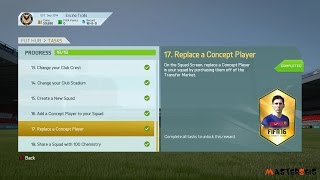 FIFA 16 Ultimate Team How to Replace Concept Player