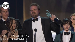 Stranger Things Cast: Acceptance Speech | 23rd Annual SAG Awards | TNT