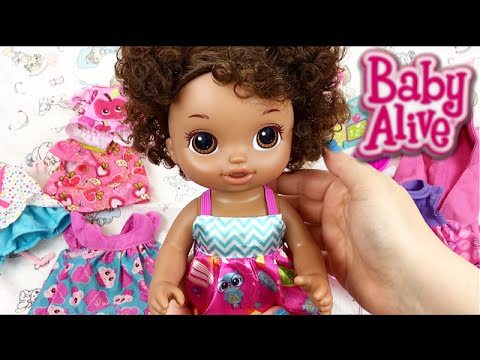 Baby Alive Ready for School Doll Name Reveal and Help Pick her Preschool Clothes Changing Video