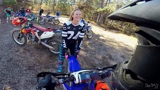 Girl humps my bike - Carl destroys stop sign - Fast Enduro Riding