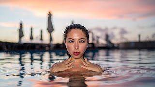 Swimsuit Pool Shoot at Sunrise -Sony A7Rii, 35mm Zeiss, Rotolight Neo in Cancun, Mexico Jason Lanier