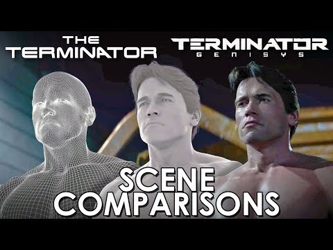 watch The Terminator and Terminator: Genisys - scenes comparisons