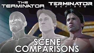 The Terminator and Terminator: Genisys - scenes comparisons