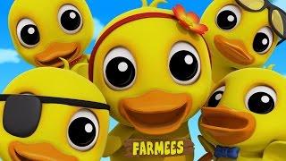 Five Little Ducks | Duck Song | Nursery Rhymes | Kids Songs | Baby Rhymes