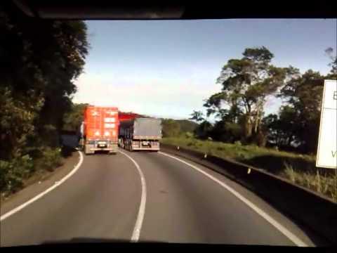 SCANIA 112H descendo a Serra de Santos