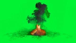 Green Screen Bomb Blast Effect  - 1080p Free Download