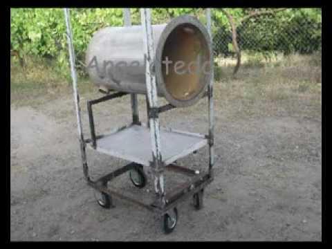 Tambor. depósito cilindro de acero inoxidable para horno de leña Sisale.