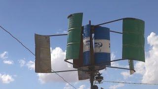 أبو أسامة.. سوري يستخرج الكهرباء من البراميل المتفجرة