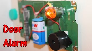 How to make a Door Alarm using Bike Buzzer - Theft alert Alarm