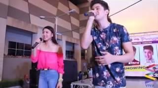 James Reid & Nadine Lustre performing No Erase Live at SM City Iloilo (April 12, 2014)