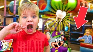Ollie Lost His First Tooth At Chuck-E-Cheese!
