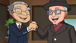 Berkshire Hathaway Trading Places Animation for annual Berkshire Hathaway shareholders meeting