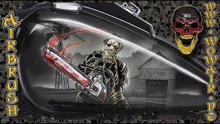 """Airbrush by Wow No.892 """" Classic Horror : Leatherface """" mit deutschem Kommentar"""