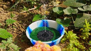 How to setup Solar Water Fountain for your garden