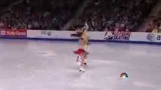 American ice dancers skating to Indian Bollywood songs mp4