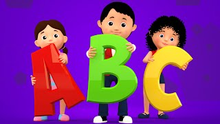 ABC Song | 3d Nursery Rhymes | Kids Songs | Childrens Videos | Phonics Songs For Toddlers | Kids Tv
