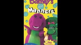 Opening To Barney's Best Manners 1993 VHS