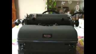 Royal KMG typewriter