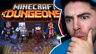 REACTING TO MINECRAFT DUNGEONS
