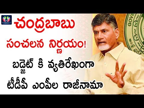 Breaking News Chandrababu Sensational Decision TDP MP s Resigned Over Union Budget TFC News