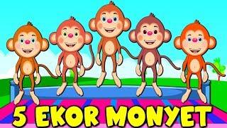 Lagu Kanak Kanak Melayu Malaysia - LIMA EKOR MONYET - 5 Little Monkeys Malay