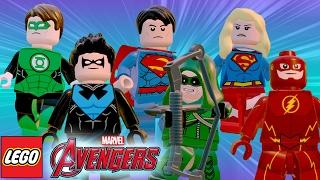 LEGO Avengers | MOD PACK DC Comics - Arrow, Flash, Superman, Supergirl, Lanterna Verde e Asa Noturna
