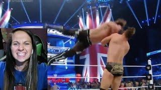 WWE Smackdown 4/21/16 AJ Styles vs Miz