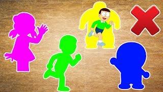 Wrong Slots Doraemon Trolls Nobita Shizuka Chaien Finger Family Song Nursery Rhymes