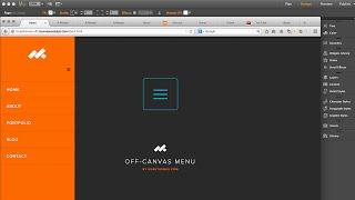 Off-Canvas Sidebar Menus in Adobe Muse CC - Widget Training | MuseThemes.com