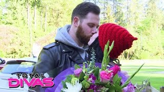 Paige's boyfriend visits her on set: Total Divas, August 25, 2015
