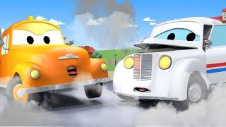 Peter das Postauto  - Tom der Abschleppwagen in Car City 🚗 Cartoons für Kinder