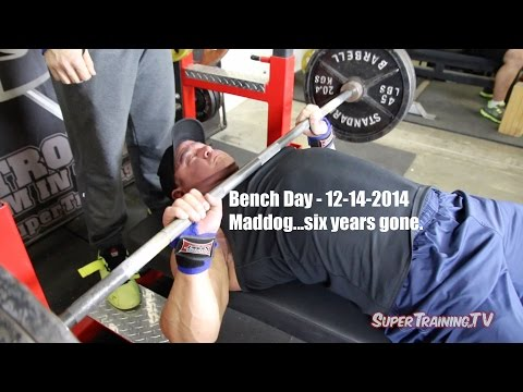 Bench Day 12-14-2014 | Maddog Six Years Gone | SuperTraining.TV