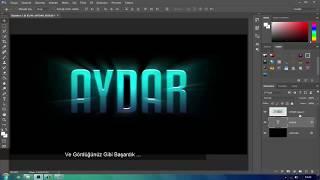 Işıklı Yazı Nasıl Yapılır ? | Adobe Photoshop