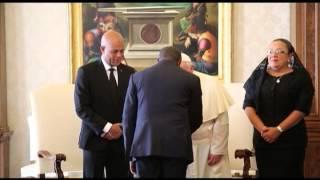Rencontre entre le President Martelly et le Pape Francois