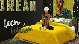 Dream's DREAM Bedroom 🌙 | BEST Teen Twin Bedroom Build - Sims 4