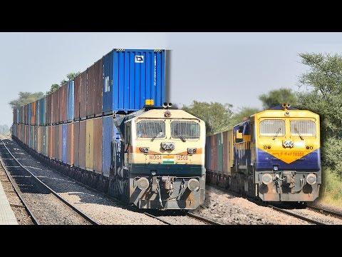 Single vs DOUBLE Stack CONTAINER Train