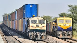 Single vs DOUBLE Stack CONTAINER Train : Indian Railways