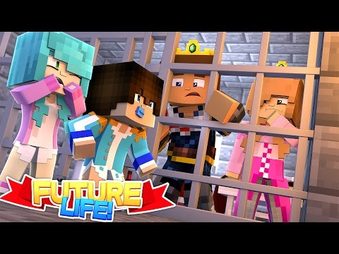 Minecraft FUTURE LIFE LITTLE KELLY & DONNY LOCKED UP IN PRISON CAN THEIR BABIES HELP THEM ESCAPE