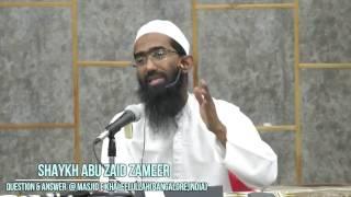 Question & Answer session with Shaykh Abu Zaid Zameer