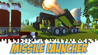 Scrap Mechanic Gameplay: Missile Launcher -  Let's build a Missile Launcher in Scrap Mechanic
