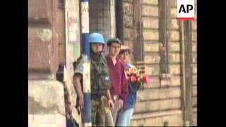 BOSNIA: RENEWED SNIPER FIRE IN SARAJEVO