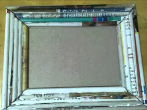 Marco de Periodico Recycle Newspaper making a frame